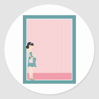 Frontera de la mujer embarazada etiqueta