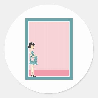 Frontera de la mujer embarazada etiquetas
