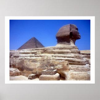 frontera de la pirámide de la esfinge póster