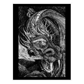 Frontera de la postal del dragón