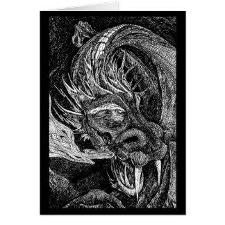 Frontera de la tarjeta de felicitaciones del dragó
