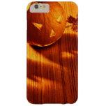 Frontera de las calabazas de Halloween que brilla Funda Para iPhone 6 Plus Barely There