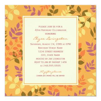 Frontera de las hojas de la caída de la invitación