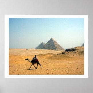 frontera de las pirámides del camello póster