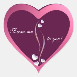 Frontera de los corazones pegatina en forma de corazón