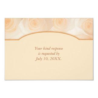 """Frontera de los rosas de la mandarina que casa invitación 3.5"""" x 5"""""""