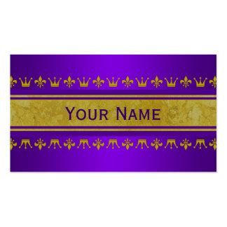 Frontera de oro de la corona y del lirio + su text tarjetas de visita