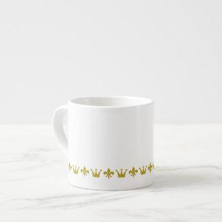 Frontera de oro de la corona y del lirio + sus ide tazita espresso