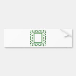 Frontera decorativa VERDE: Piense las aplicaciones Etiqueta De Parachoque