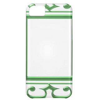 Frontera decorativa VERDE: Piense las aplicaciones Funda Para iPhone 5C