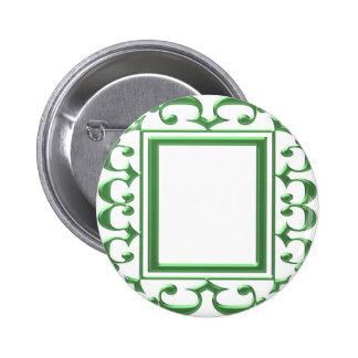 Frontera decorativa VERDE: Piense las aplicaciones Pin Redondo De 2 Pulgadas