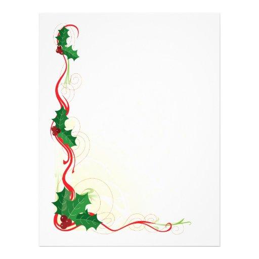 Frontera del acebo del navidad tarjeta publicitaria