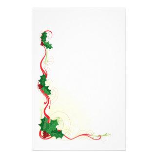 Frontera del acebo del navidad papeleria de diseño