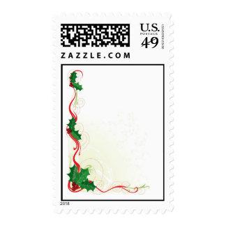 Frontera del acebo del navidad sellos