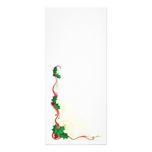 Frontera del acebo del navidad diseño de tarjeta publicitaria