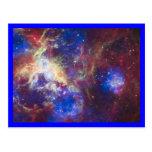 Frontera del azul de la nebulosa del Tarantula