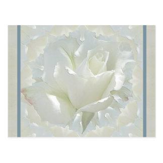 Frontera del azul del ~ del rosa blanco postal
