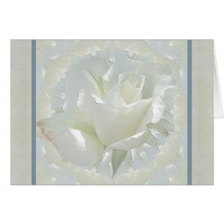 Frontera del azul del ~ del rosa blanco tarjeta de felicitación