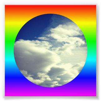 Frontera del círculo del arco iris cojinete