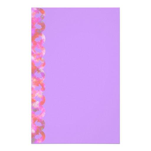 Frontera del conejito: Arco iris rosado en lila Papelería Personalizada
