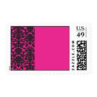 Frontera del damasco con diseño de las rosas sellos