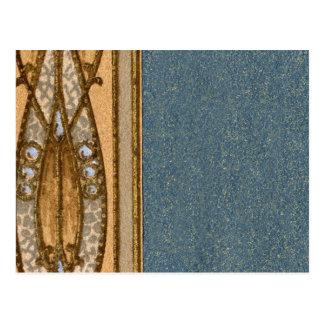 Frontera del extracto del papel pintado de 1920 postal