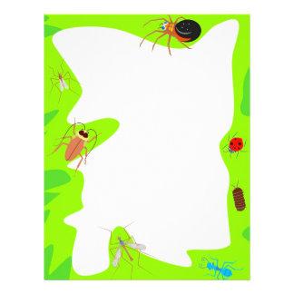 Frontera del insecto membrete personalizado