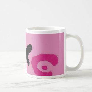 Frontera del leopardo - arte y diseño rosados de taza clásica
