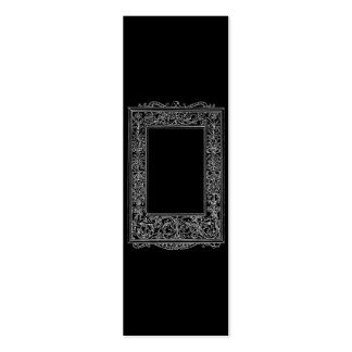 Frontera del marco de la sirena floral antigua del tarjetas de negocios
