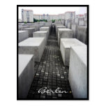 frontera del monumento del holocausto de Berlín Postal