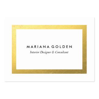 Frontera del oro en plantilla rechoncha de la tarjetas de visita grandes