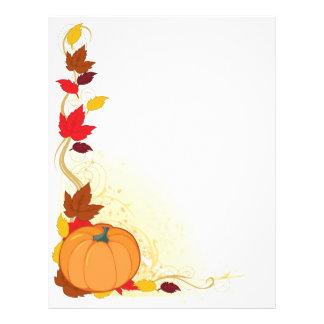 """Frontera del otoño de la calabaza folleto 8.5"""" x 11"""""""