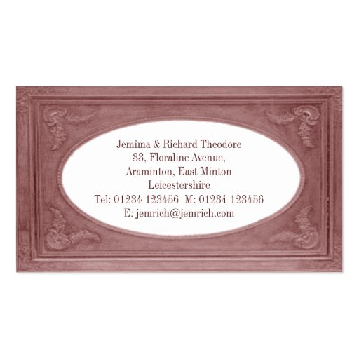 Frontera del rosa de la terracota del personalizar tarjeta de visita