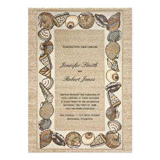 Frontera del Seashell en el boda de la armadura de