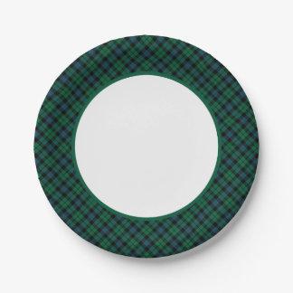 Frontera del tartán del clan de MacKay Platos De Papel