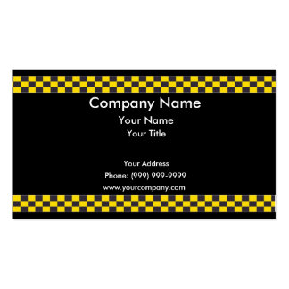 Frontera del taxi plantillas de tarjeta de negocio