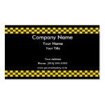 Frontera del taxi tarjetas de visita