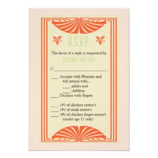 frontera del vintage de la tarjeta de 3.5x5 R.S.V. Comunicados Personalizados