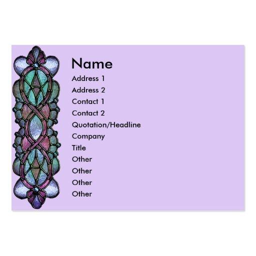 Frontera del vitral de la violeta pálida del KRW Plantillas De Tarjeta De Negocio