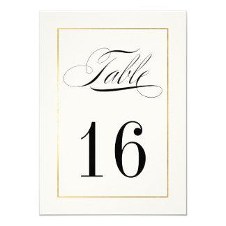 """Frontera elegante del oro de la tarjeta del número invitación 4.5"""" x 6.25"""""""