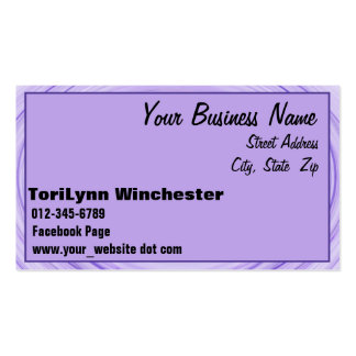 Frontera espiral violeta tarjetas de visita