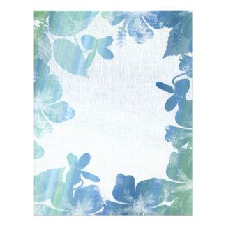 Frontera floral azul escarchada tarjetas publicitarias