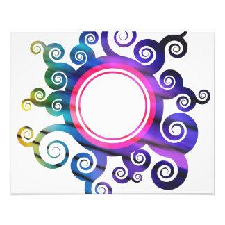 Frontera floral de la circular del follaje foto