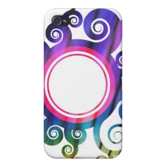 Frontera floral de la circular del follaje iPhone 4 cárcasa