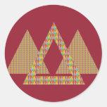 Frontera histórica de la energía del triángulo de  pegatina redonda