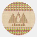 Frontera histórica de la energía del triángulo de  pegatinas redondas