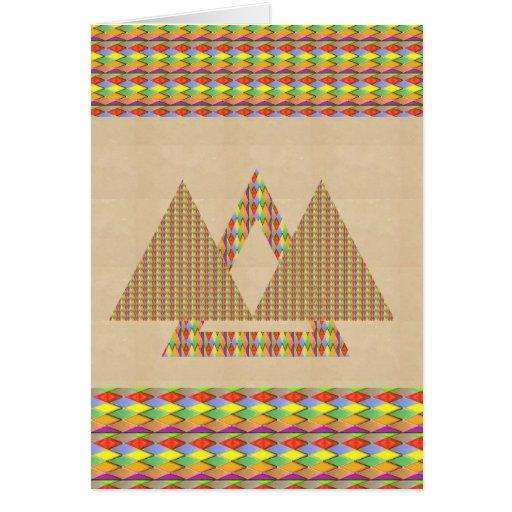 Frontera histórica de la energía del triángulo de  tarjeta de felicitación