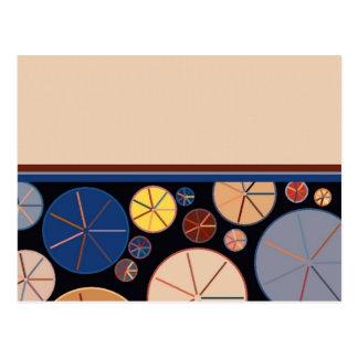 Frontera inferior de los azules y de los marrones tarjetas postales