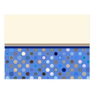 Frontera inferior de los puntos azules tarjeta postal