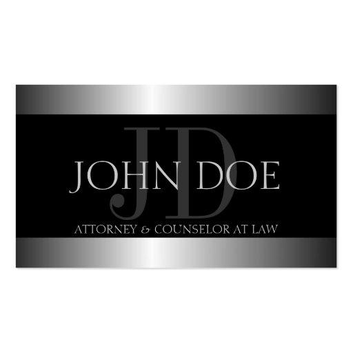 Frontera metálica del metal plateado del abogado tarjetas de negocios